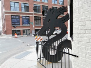dragon sculpture in fort point