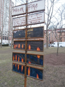 water fire festival sign