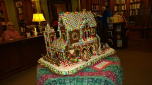 library-gingerbread-house