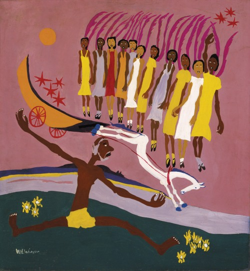 William H. Johnson: <i>Swing Low, Sweet Chariot</i>, 28 5/8 x 26 1/2 inches, circa 1944