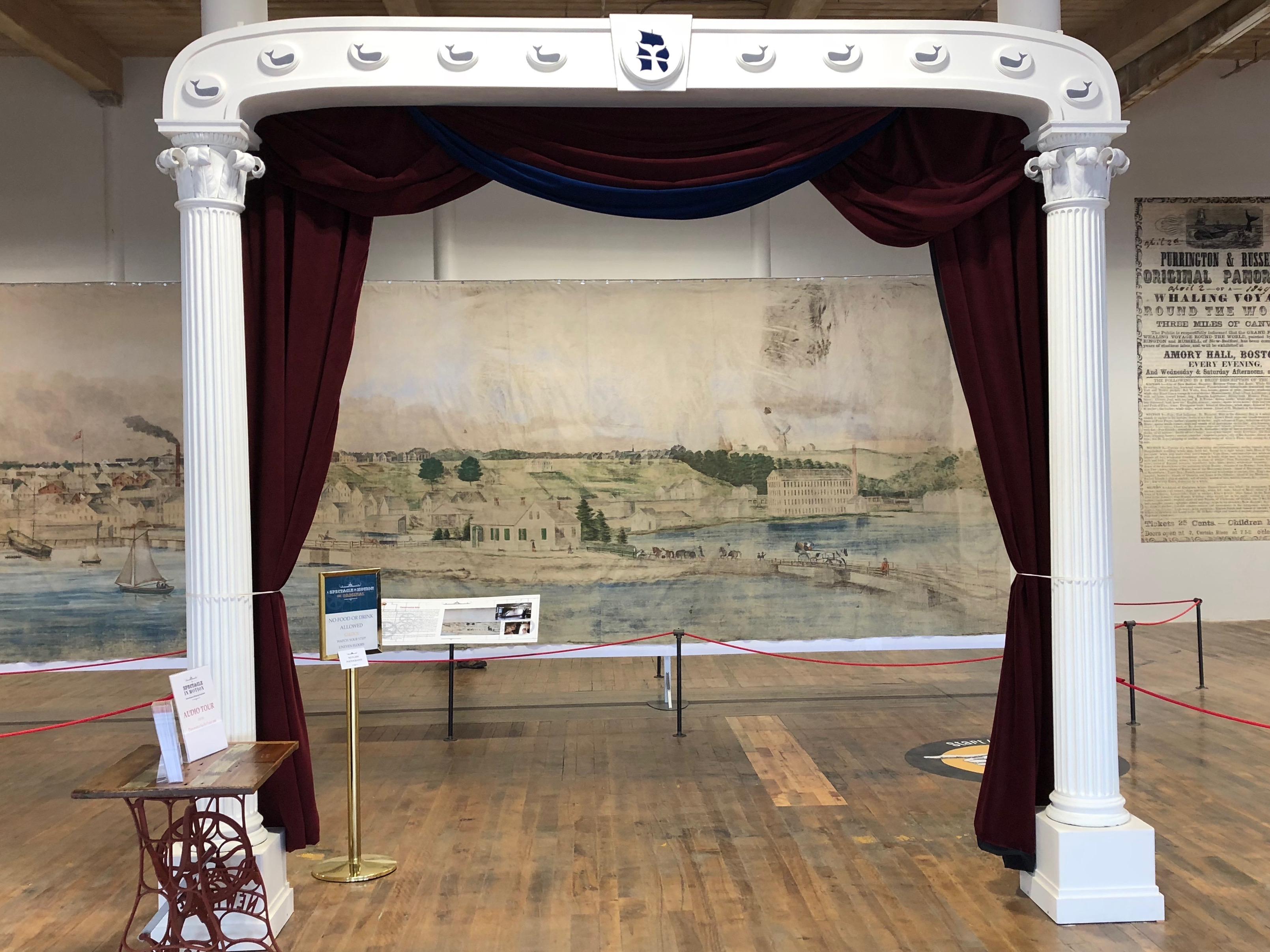 092518-exhibit-entrance-mimics-scrolling-frame
