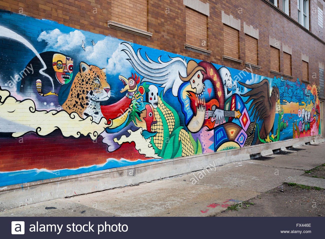 chicago-illinois-a-mural-on-a-building-in-the-largely-mexican-american-fx446e