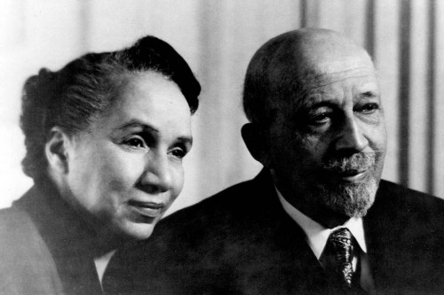 shirley_graham_du_bois_and_w_e_b_du_bois_on_his_87th_birthday_1955
